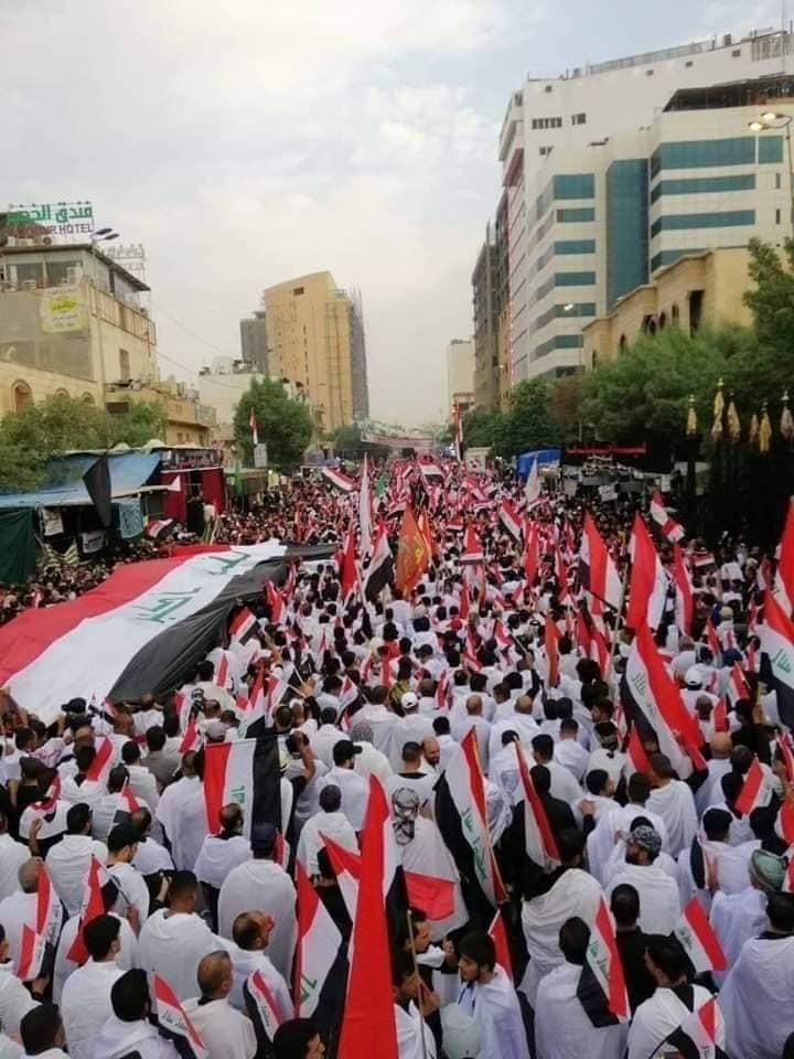 هتافات ضد الفساد في أربعينية الحسين في كربلاء