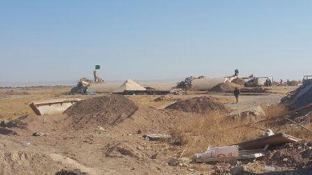 قوات الحشد تدمر جميع أنفاق داعش الممتدة بين مطار تلعفر والقرى المحيطة به