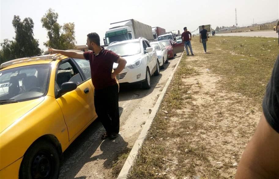 (بالصور) الاتحادية تغلق سيطرة التون كوبري في كركوك والطريق المؤدي الى اربيل