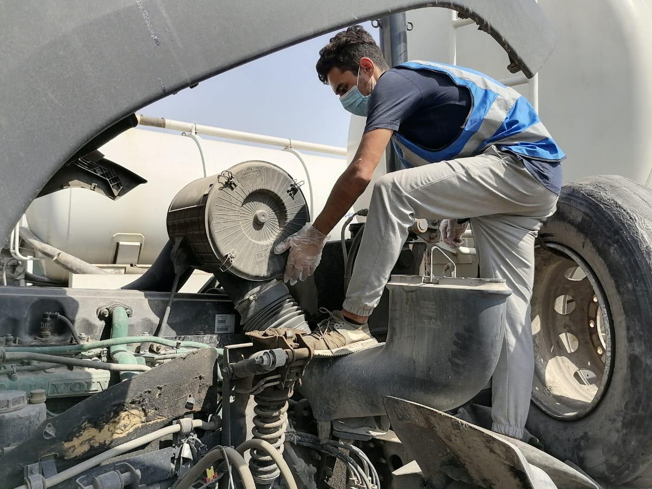 امانة بغداد تطلق حملة لصيانة الاليات التخصصية موقعياً
