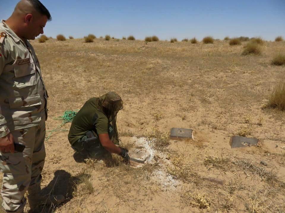 القوات الأمنية تعثر على  ورشة خاصة بالتلغيم في محافظة الانبار