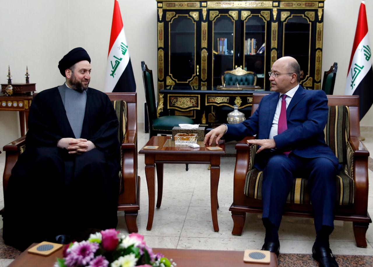 Learn about the details of the meeting of the President of the Republic with Maliki and Ammar al-Hakim Image