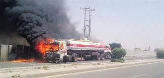 السيطرة على حريق في خط أنابيب نفطي جنوب غربي إيران