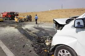 مصرع 4 واصابة 11 بحادث سير على طريق الدور - سامراء