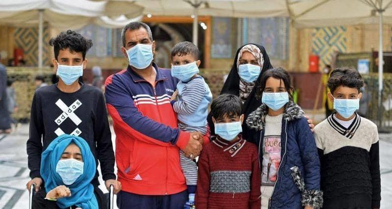 التوزيع الجغرافي الوبائي لحالات الإصابة بفيروس كورونا في الرصافة