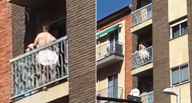 (بالصور) بكل وقاااااااحة ... تجاهلاااا المارة ومارسا الجنس على شرفة المنزل ؟؟؟!!