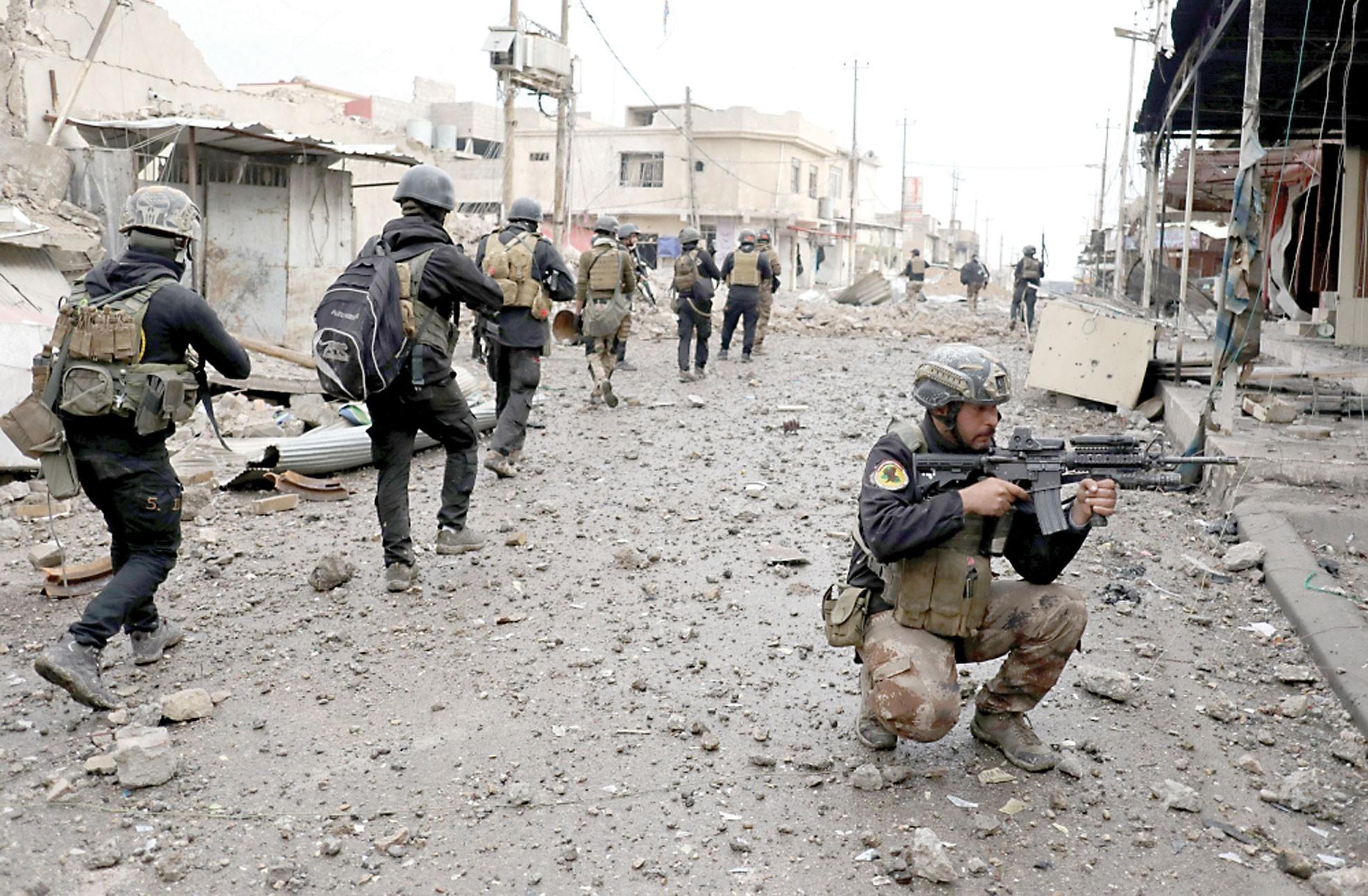 العمليات العسكرية تعلن سيطرتها على أيمن الموصل كاملا