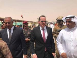 (بالصور) ماكغورك يزور منفذ عرعر الحدودي مع السعودية بالتزامن مع زيارة السبهان