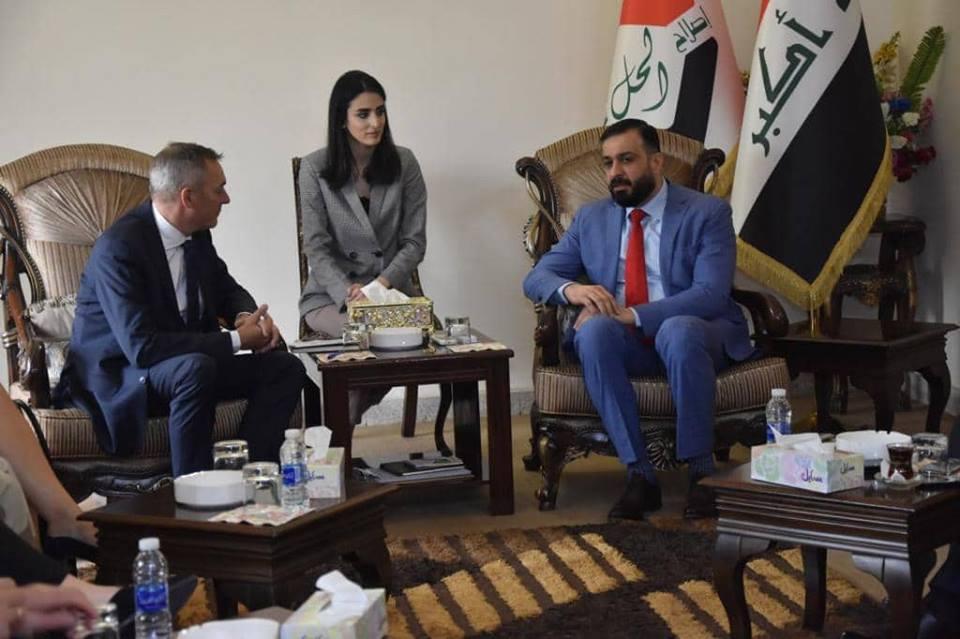 الكربولي يستقبل وزير الدفاع النرويجي ورئيس أركانه والوفد المرافق لهما