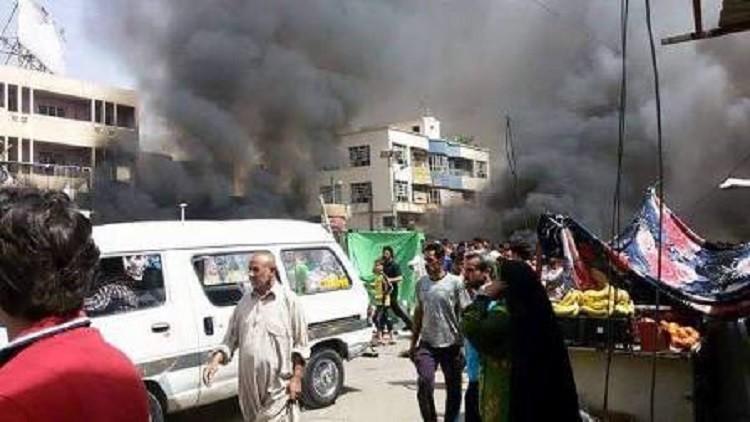 احتراق سوق شعبي في مدينة الصدر وانباء عن وقوع اصابات