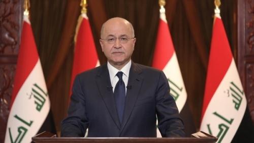 رئيس الجمهورية يلقي كلمة للشعب العراقي اليوم