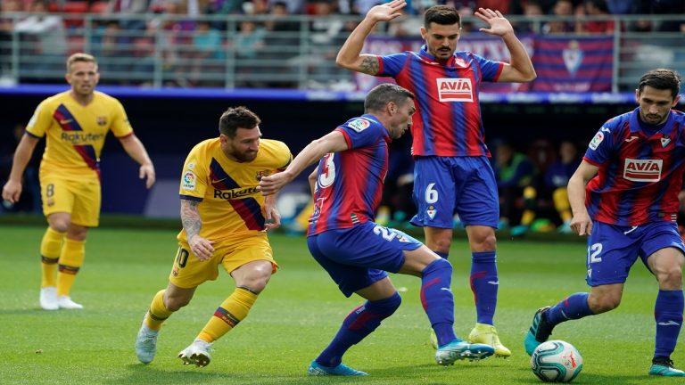 برشلونة يصعق إيبار ويعتلي صدارة ترتيب الدوري الإسباني