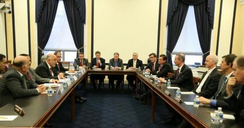رئيس الوزراء يبحث مع لجنتي بمجلس الشيوخ والكونغرس الامريكي تسليح القوات العراقية