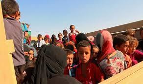 خروج أكثر من ألف نازح من مناطق ناحية بادوش والريحانية شمال غرب أيمن الموصل