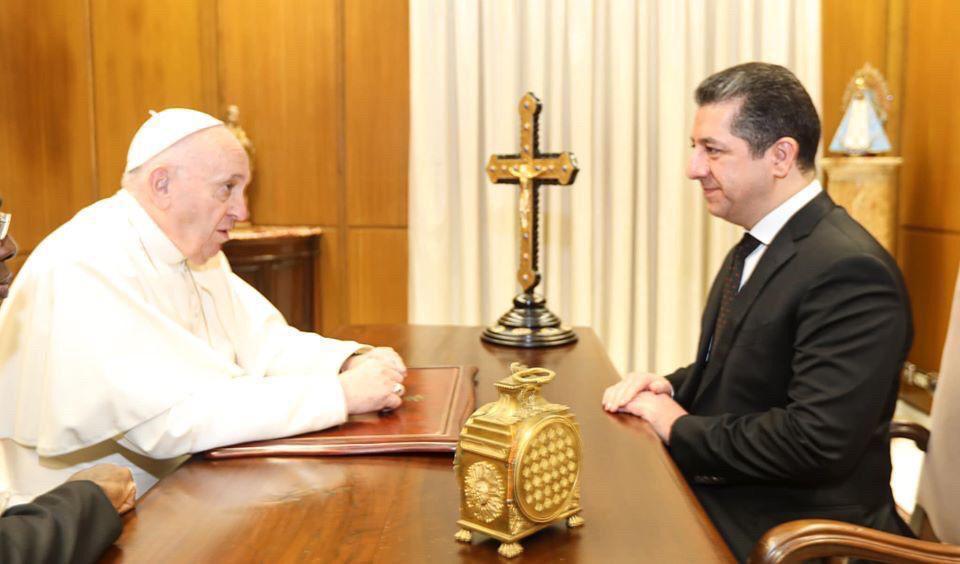 بارزاني يوجه دعوة الى بابا الفاتيكان لزيارة اقليم كردستان