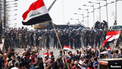 الموقف الأمني في ساحات الاعتصام ببغداد