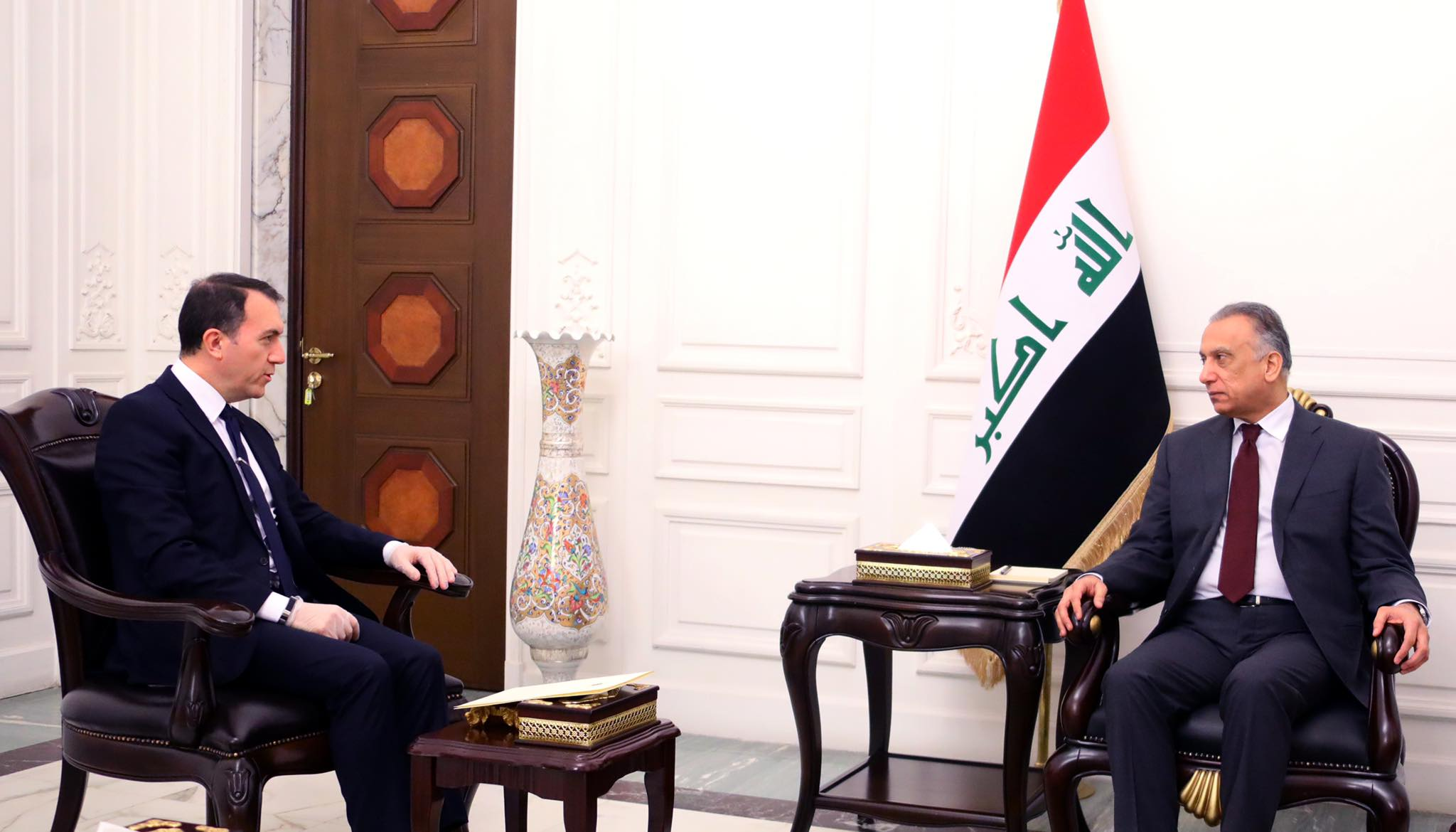 Kuwaiti Ambassador assures Al-Kazemi of his country's intention to activate the decisions of the Iraq Reconstruction Conference Image