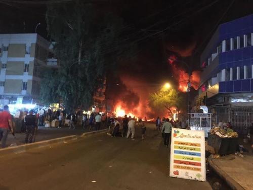 ارتفاع حصيلة ضحايا التفجير الانتحاري وسط الكرادة الى 130 بين قتيل وجريح