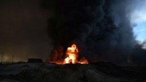 إطفاء ومعالجة 23 بئرا نفطيا في حقل القيارة غربي الموصل