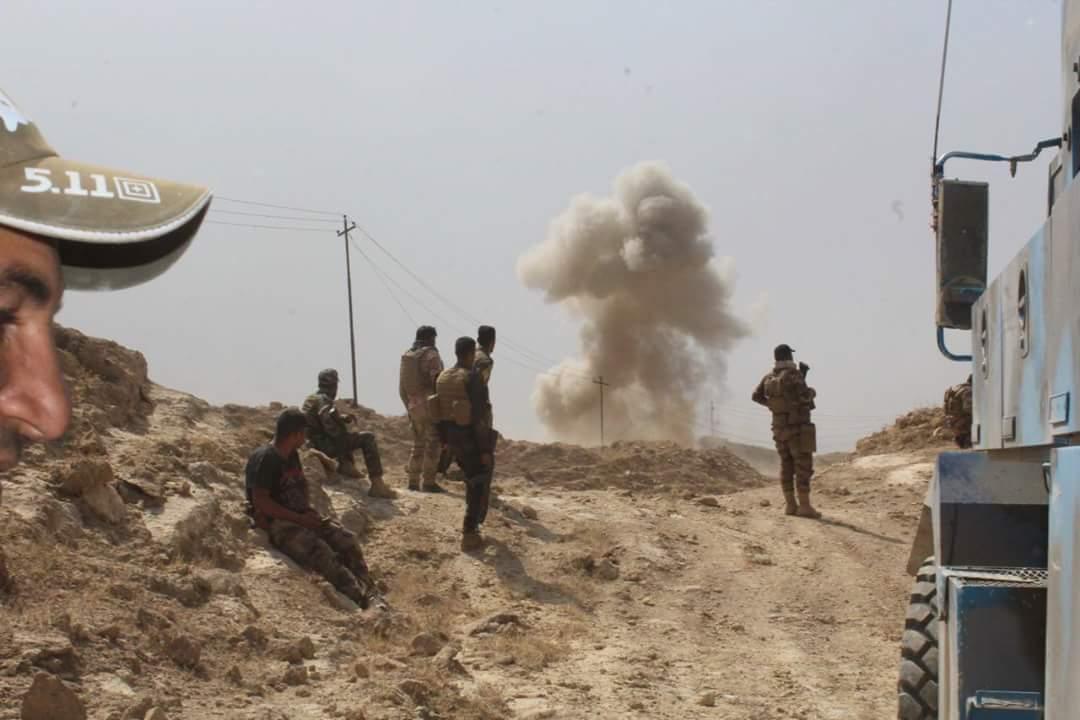 """تدمير مضافة ل """"داعش"""" الاجرامي والعثور على مواد متفجرة جنوب بغداد"""