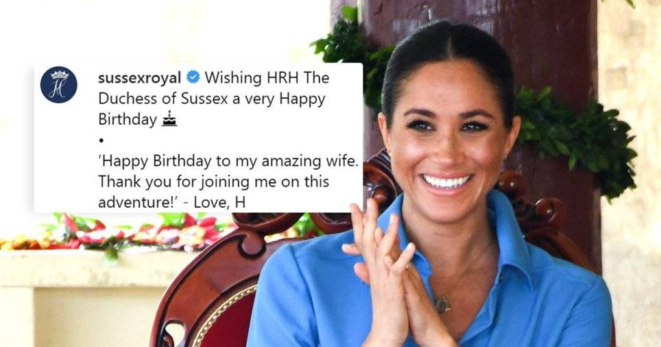 الأمير هاري يهنئ ماركل بمناسبة عيد ميلادها بطريقته الخاصةّ!