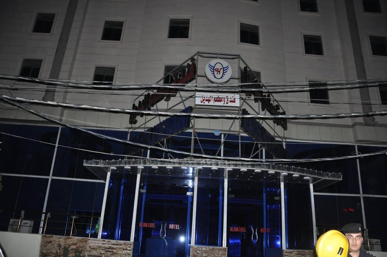 الدفاع المدني: اخماد حريق داخل فندق في كربلاء