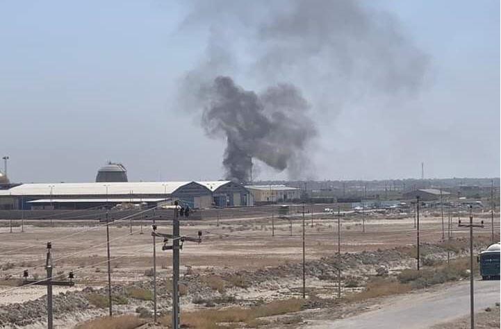 بالصورة ..  انفجار بمعمل غاز الناصرية إثر اصطدام صهريجين