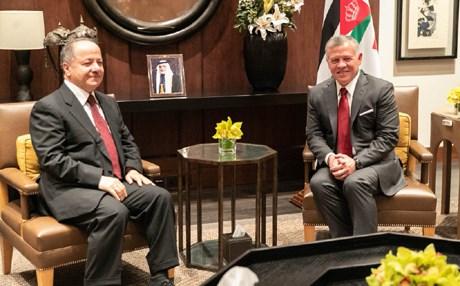 King of Jordan receives Barzani and discuss ways of cooperation between Jordan and Iraq Image