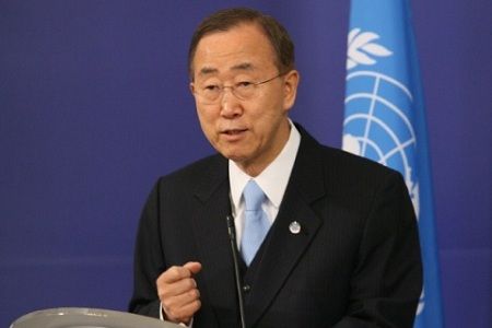 Ban Ki-moon expressed his concern about the deterioration of security in Mosul