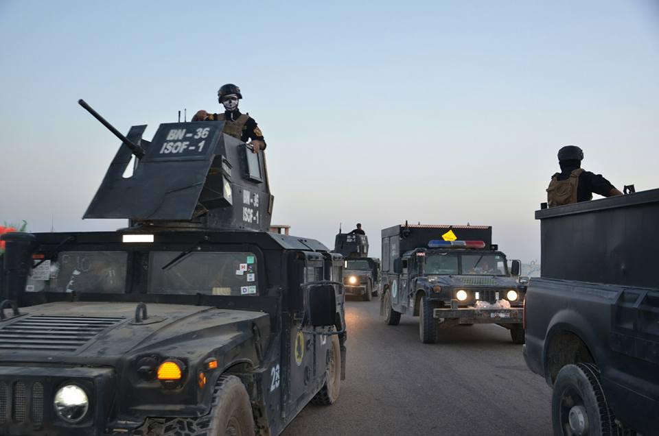 مكافحة الارهاب تحرر حي الثورة في الساحل الأيمن لمدينة الموصل