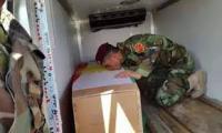 البيشمركة تشيع احد ضباطها الكبار قتل قنصاً اليوم في كركوك