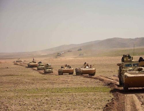 تحرير قرية تل خزف غرب تلول عطشانة ورفع العلم العراقي فيها