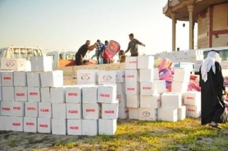 اطلاق حملة بالزبير لجمع التبرعات لنازحي الموصل