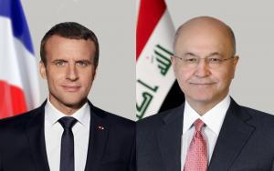 ماكرون لصالح: استقرار الشرق الاوسط يتطلب تجنيب العراق لتداعيات الأزمات الدولية والإقليمية