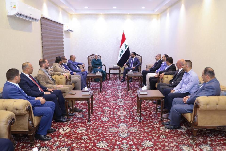 الحلبوسي يبحث مع وفد المبرمجين العراقيين الاستفادة من الطاقة الشابة في بناء الدولة