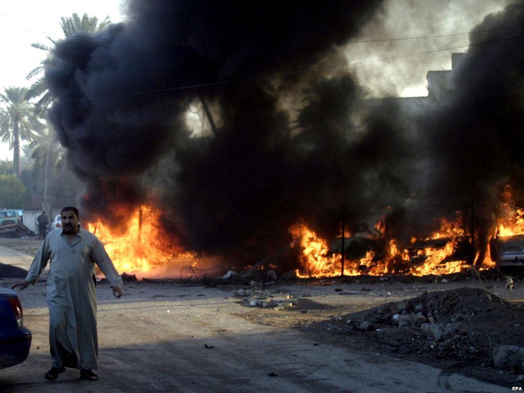 اصابة 5 اشخاص بينهم ضابط بالجيش بانفجار عبوة ناسفة في الفلوجة