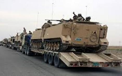 تعزيزات عسكرية  تصل الى قاعدة الاسد للمشاركة بتحرير جزيرتي هيت والبغدادي