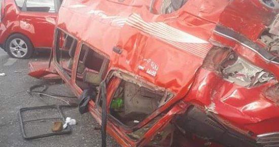 مصرع واصابة 9 اشخاص من عائلة واحدة بحادث سير مروع في البصرة