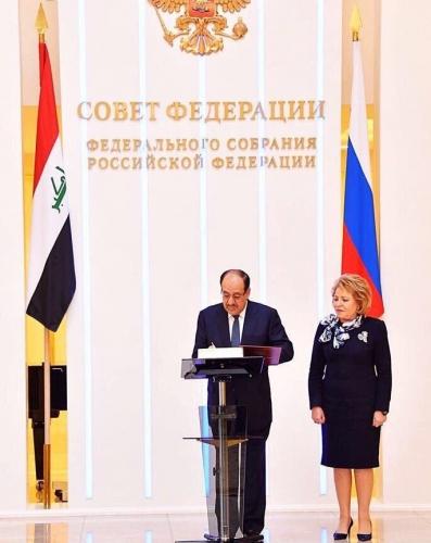 المالكي يشدد على أهمية ترسيخ الشراكة مع روسيا في مختلف المجالات