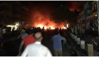 """عصابات داعش تتبني الهجوم الانتحاري  قرب مطعم """"جبار ابو الشربت"""" في منطقة كرادة"""
