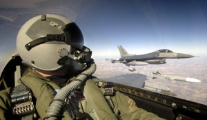 F16 aircraft began the first day exploratory sorties in the skies of Iraq