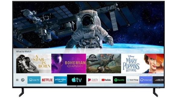 تلفزيون سامسونغ الذكي يدعم تقنية AirPlay 2 وتطبيق أبل TV