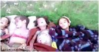 بالصورة : مقتل عائلة اثر قصف القوات الحكومية الفلوجة بالبراميل المتفجرة
