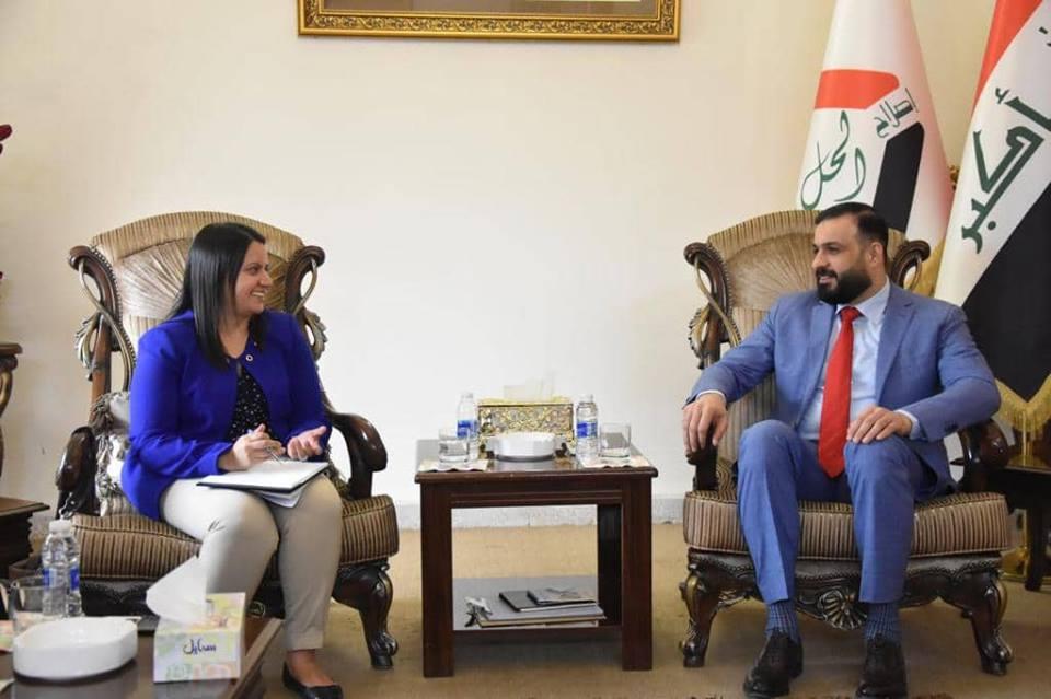 القيادي في تحالف المحور الوطني يستقبل وفد السفارة الكندية المعتمدون في بغداد