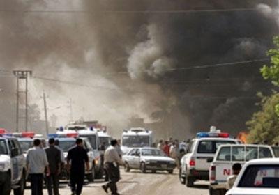 (بالفيديو) اللحظات الأولى لانفجار عبوة ناسفة في سوق مريدي بمدينة الصدر شرقي بغداد