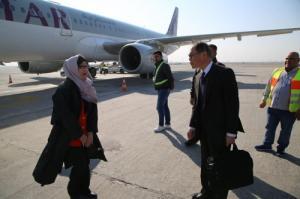 الوفد الياباني يصل الى النجف للمشاركة بالمنتدى العلمي السابع الذي تقيمه جامعة بغداد