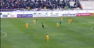 الشوط الأول ينتهي من مباراة العراق واستراليا لصالح الأخيرة