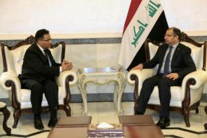الجبوري يبحث مع السفير المصري  اعمار المناطق المحررة