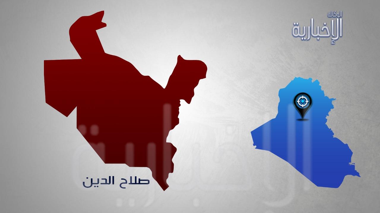 تدمير عجلة وتفجير وكرين لداعش خلال عملية امنية في صلاح الدين