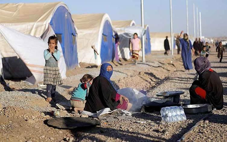 سلامة جميع الملامسين للنازح المصاب بكورونا في مخيم حسن شام